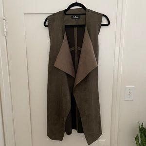 Lulu's Olive Green Suede Vest